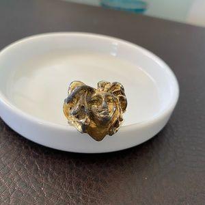 Super rare vintage Medusa ring